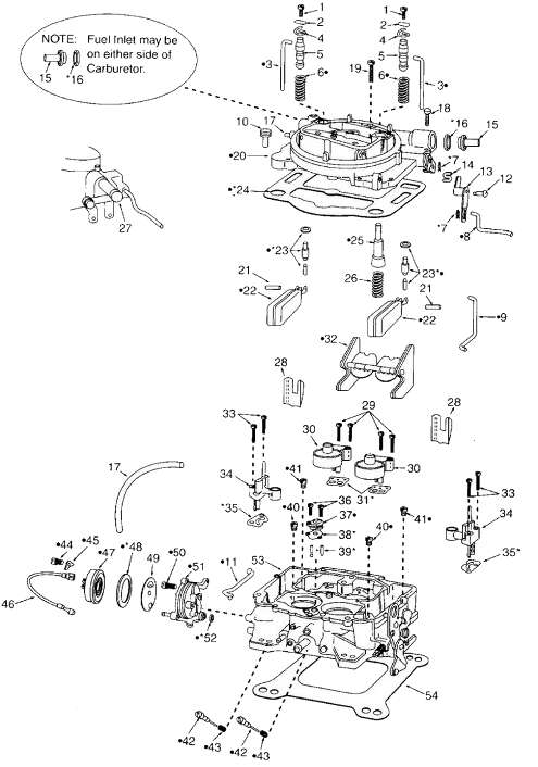 Carter AFB Exploded Diagram - Mikes Carburetor Parts