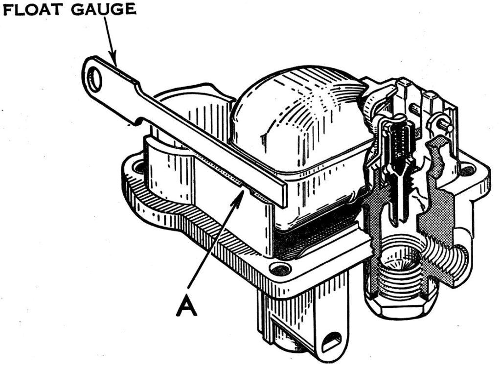 Carter WA-1 1 barrel carburetor float level adjustment.